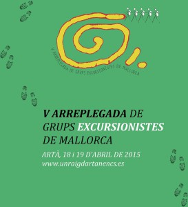 V arreplegada excursionistes cartell